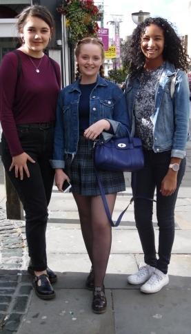 Left (Miren) Top – H & M Jeans – Topshop Shoes – Dr Martins Middle (Madeleine) Jacket – Zara Jumper – American Apparel Skirt – American Apparel Shoes – Pull and Bear Right (Ellenor) Jacket – Zara Top – Zara Jeans – Gracie Market Shoes - Converse