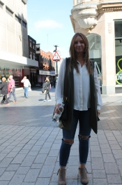 Boots – New Look Jeans – Topshop Shirt – Primark Waistcoat – New Look Bag - Mulberry