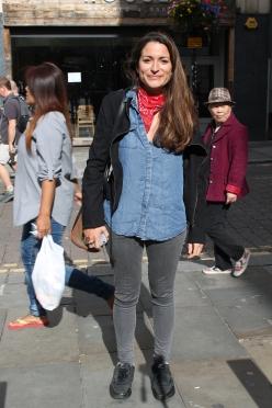 Jacket – Zara Shirt – Forever 21 Neck Scarf – Vintage Jeans – Topshop Shoes - Nike