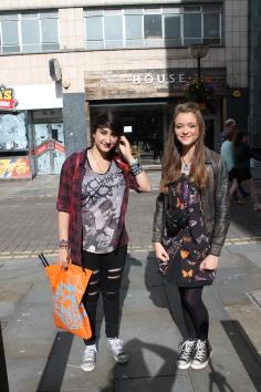 Left (Ida) Shirt – Hot Topic Jeans – Primark Shoes – Converse Right (Lily) Jacket – Miss Selfridge Dress – Topshop Shoes - Converse