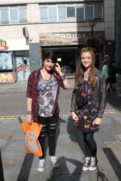 Left (Ida) Shirt – Hot Topic Jeans – Primark Shoes – Converse Right (Lily) Jacket – Miss Selfridge Dress – Topshop Shoes - Converse